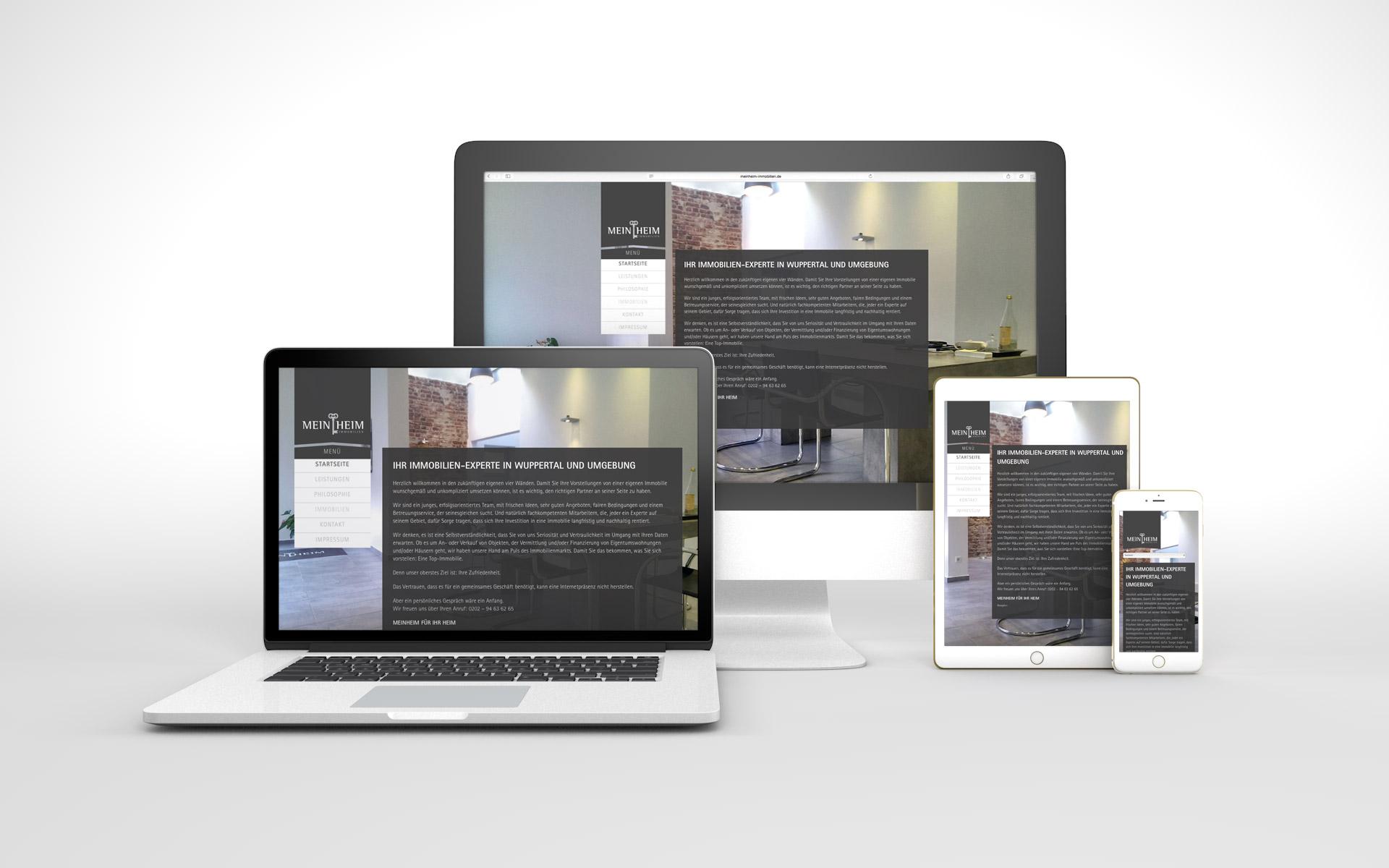 Responsive Website für MeinHeim Immobilien von graf.ik Mediendesign