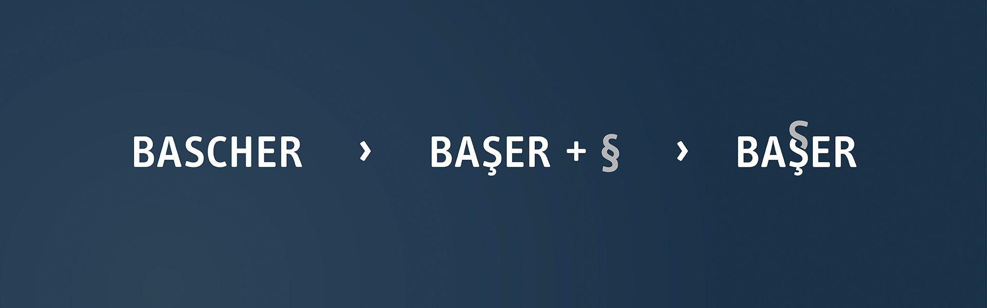 Die Enstehung des Logos von der Kanzlei Baser