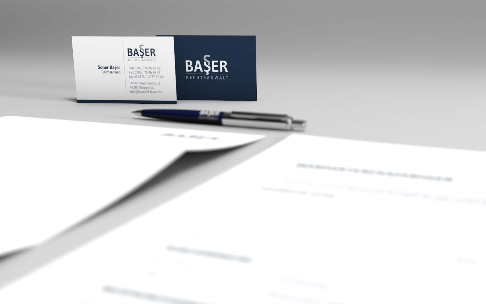Corporate Design Kanzlei Baser