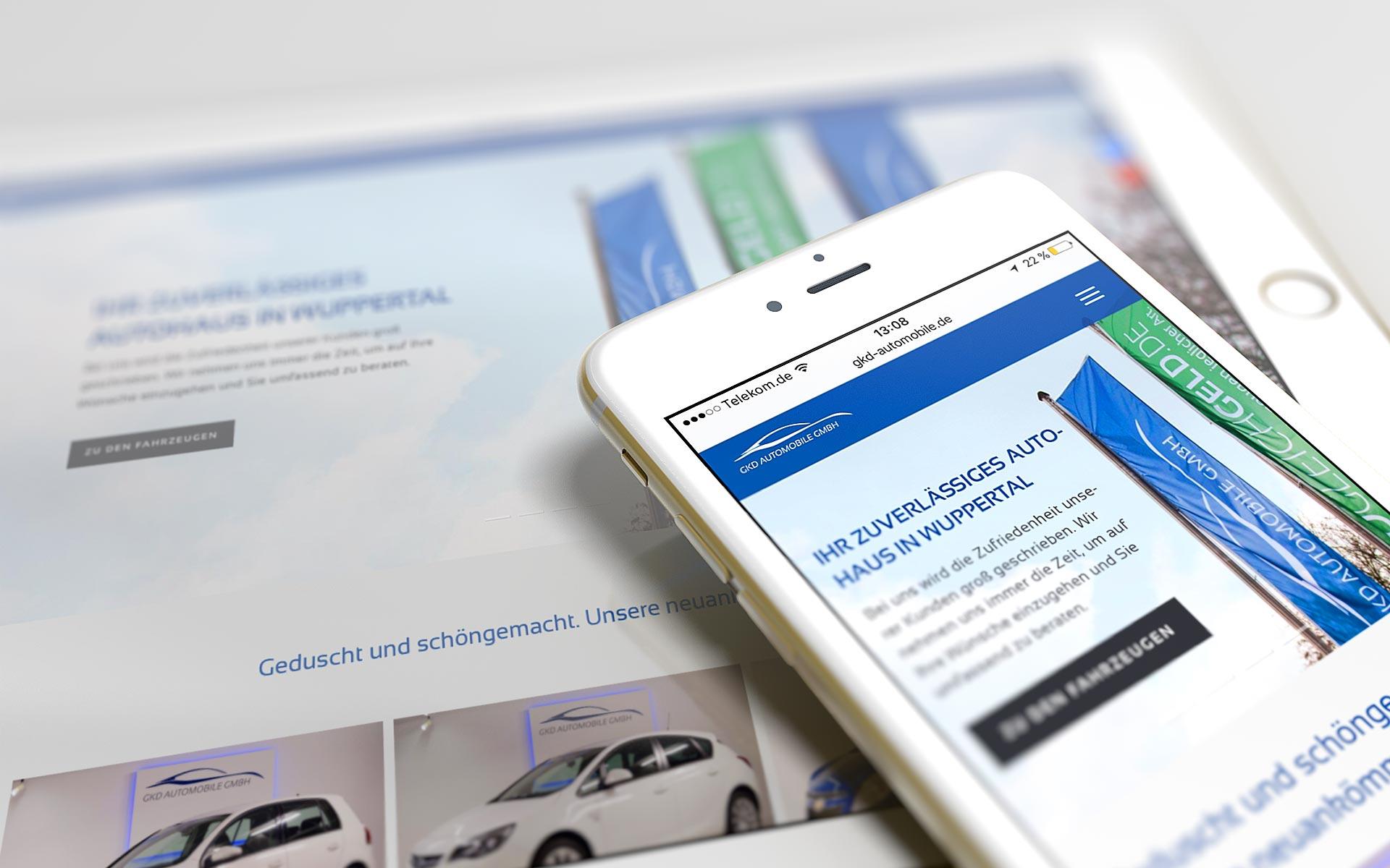GKD Automobile GmbH Website auf ipad und iphone
