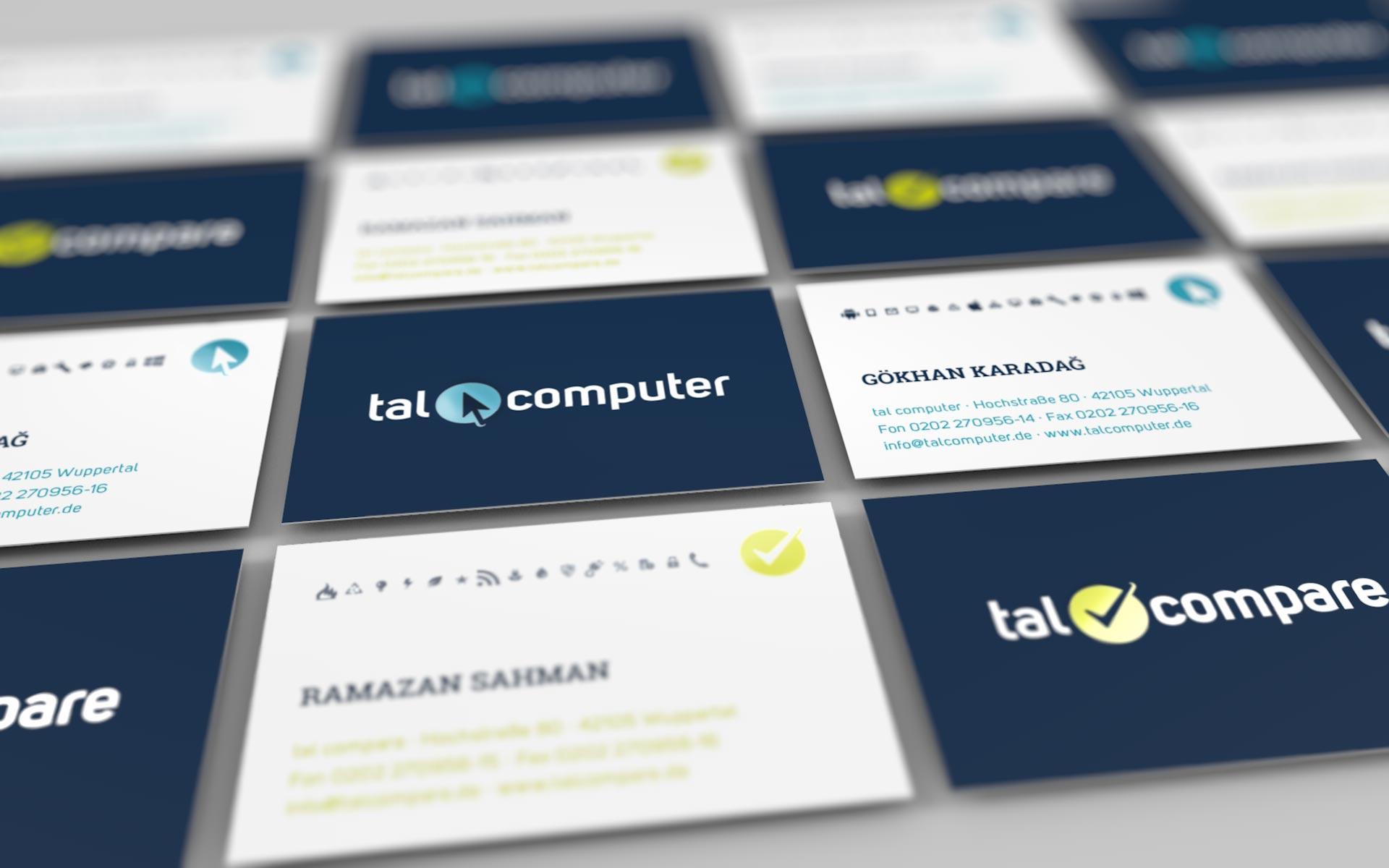 Visitenkarten für talcomputer und talcompare