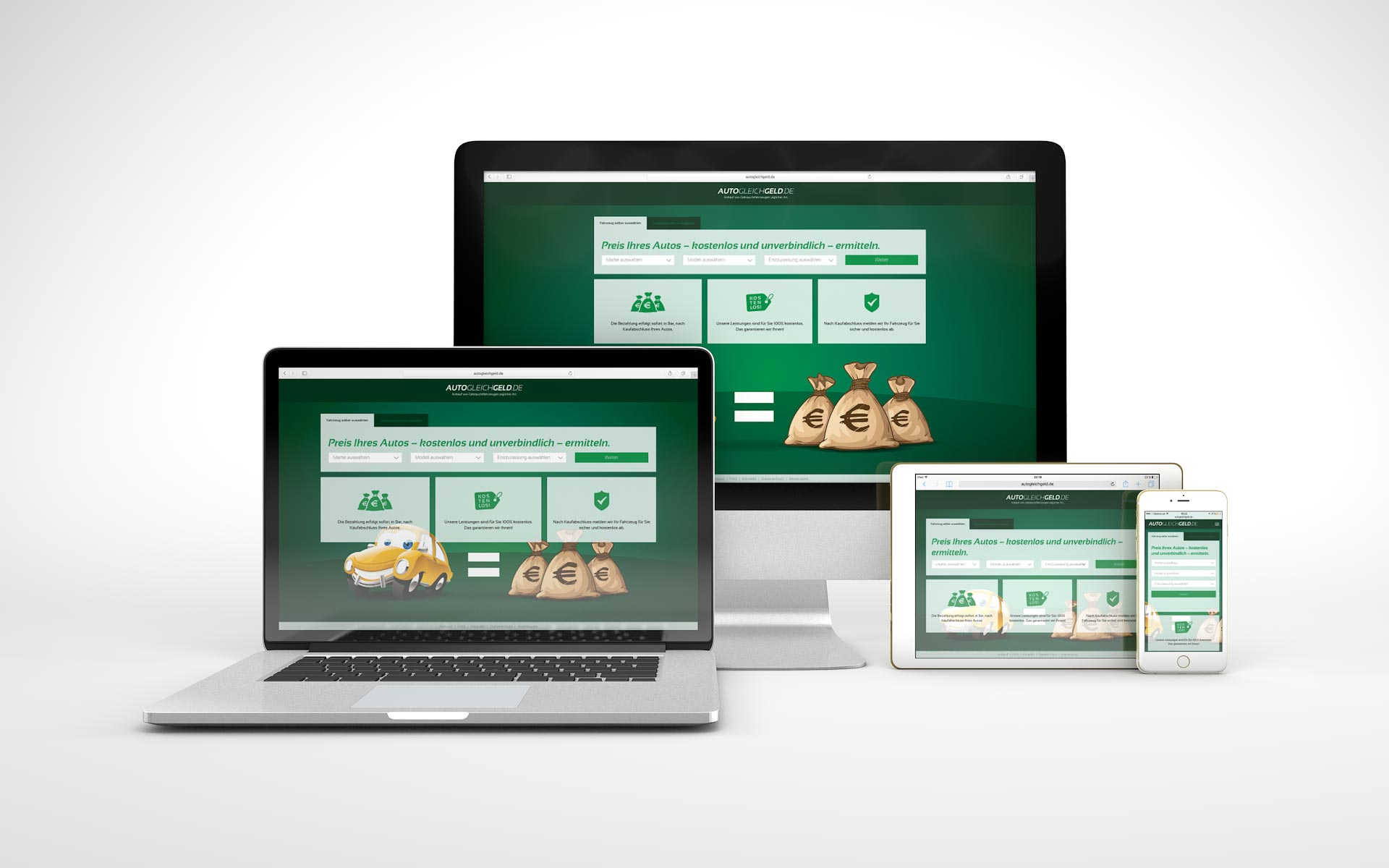 Responsive Website für AutoGleichGeld.de von graf.ik Mediendesign