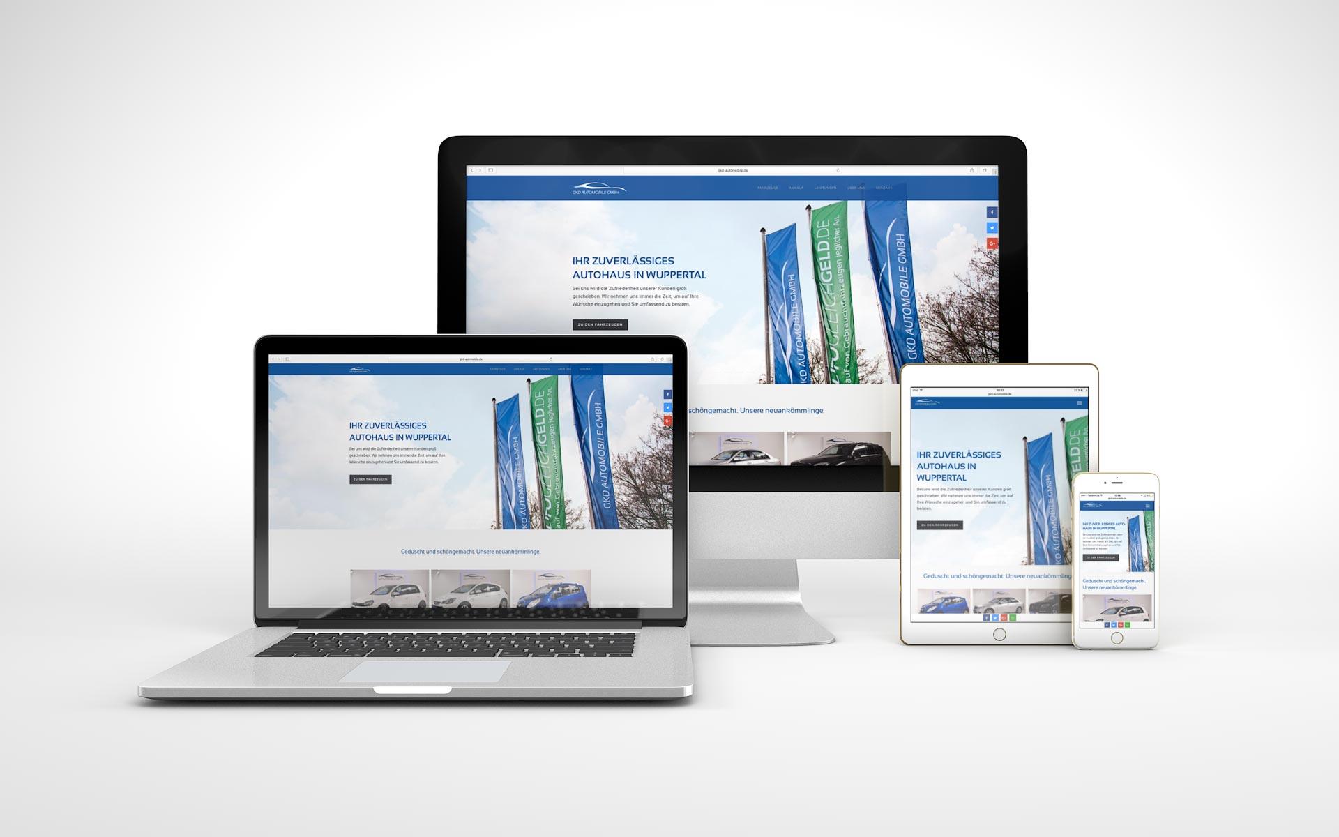 Responsive Website für GKD Automobile GmbH von graf.ik Mediendesign